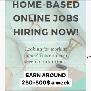 ONLINE JOB TO EARN $250-$500 a week!