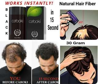 Hair loss building fiber 30gram black colour