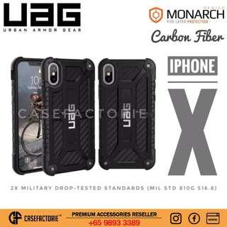UAG Monarch Series iPhone X Carbon Fibre Case