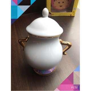 🚚 糖罐 美女與野獸茶具 東京迪士尼購入