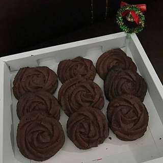 聖誕節 玫瑰花型 手造曲奇 禮物