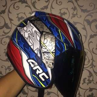 Helmet ARC + visor rainbow clear at night