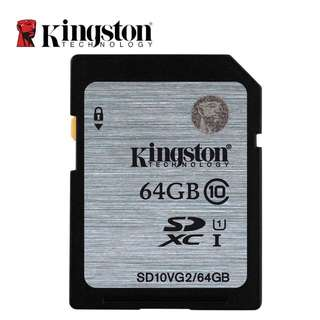 Original Kingston Class 10 SD memory card