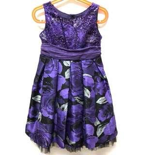 🚚 美國品牌YOUNGLAND紫色洋裝(5T)