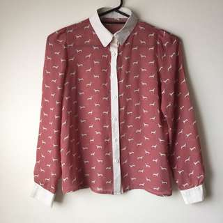 Women's graphic print blouse