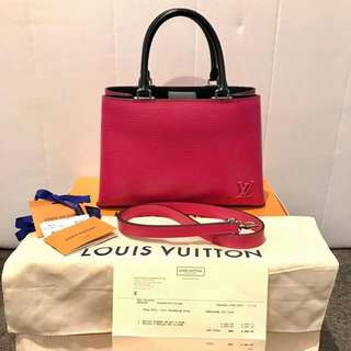 Authentic Louis Vuitton KLEBER PM in EPI hot pink 2016
