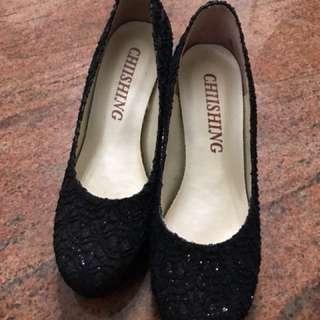 🚚 黑色婚宴高跟鞋