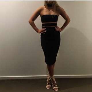 Nookie Frankie Bodycon Dress Black