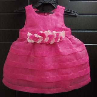 Baby pink gown 3-6mo