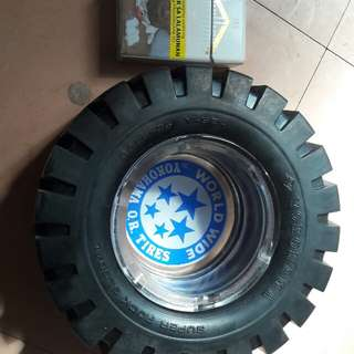 Yokohama big tire ashtray