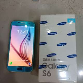 samsung galaxy S6 32 gb blue topaz