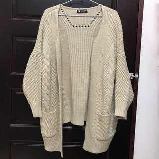 針織外套(米白)#我的女裝可超取