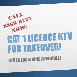 KTV (Cat 1 PE Licence) for takeover!