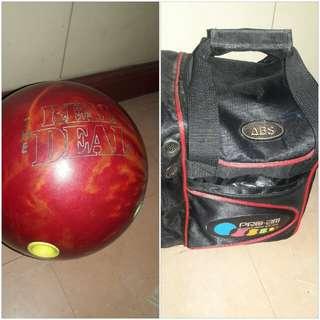 Bowling ball and bag