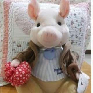 彼得兔經典故事人物絕版大豬,[長30cm寬20cm],充滿鄉村風系列娃娃~郵寄免運~
