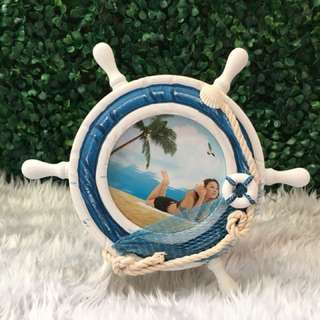 Nautical Steering Wheel Picture Frame