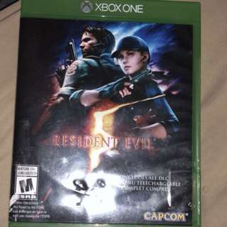 Xbox one resident evil 5 game