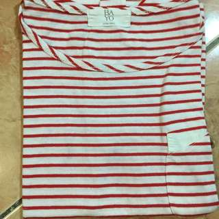 Bayo Red Stripes Top