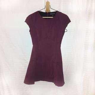 Jones NY maroon dress