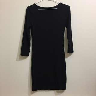 forever 21黑色合身洋裝