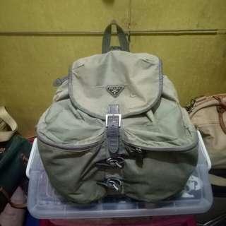 Prada nylon bagpack