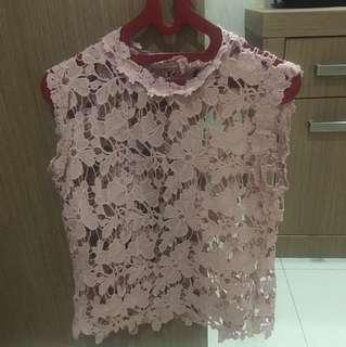 Seethrough pink top