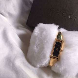 Auth Gucci 18k Gold Plated Bracelet Watch