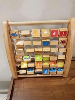 Elc wooden alphabet learning