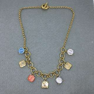 Marc Jacobs Sample Necklace 彩色配金色民族logo頸鏈 長度45 cm