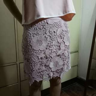 American Eagle Outfitters Rose Pink gartered skirt