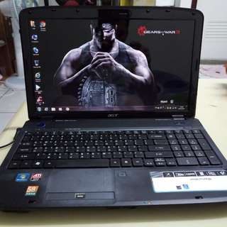 Acer 15.6inch/core2/win7 /4gb /320Gb hdd /Gaming