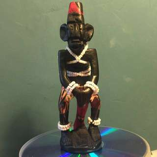 Carved wood statuette from Africa