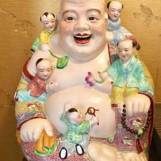 Hand Paint Laughing Buddha