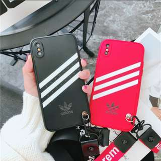 Adidas iphone casing with lanyard!