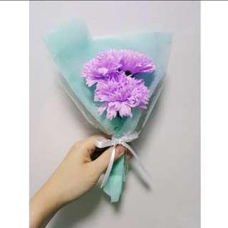 Purple Soap Carnations Bouquet