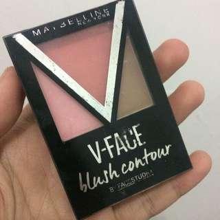 Maybelline blush contour v face