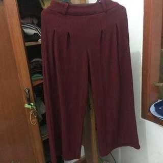 Celana kulot maroon