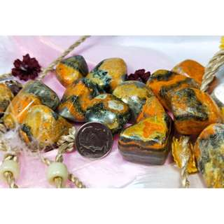 BumbLe Bee Jasper Tumbled Stones