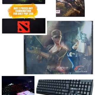 Gaming Keyboard Mouse MousePad
