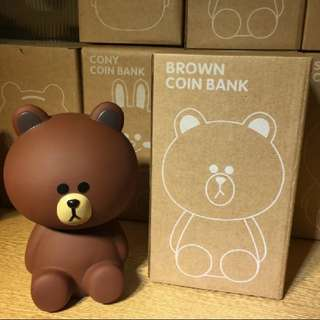 INSTOCK Line Friends Brown Coin Bank