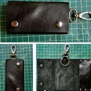 Personalized leather car key holder