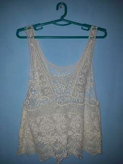 Broken White Crochet Top