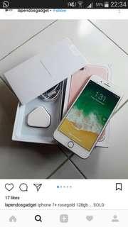 iphone7+ (rose gold)