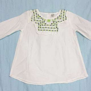 Long Sleeve Cotton Embroidered Shirt