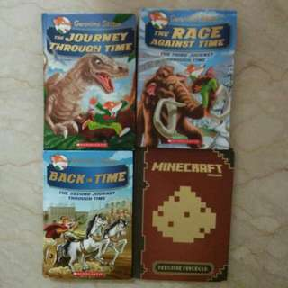 Geronimo stilton books Journey Through Time Book 1, 2 And 3  Minecraft Red Stone Handbook  $10 For Each Book.    In Good Condition But Books Are Read A Few Times  Buy All 4 For $33