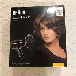 90% new Braun hair dryer with free gift of Korea facial mask