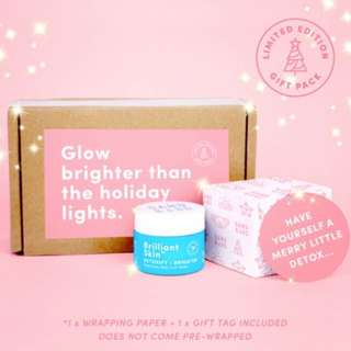 LIMITED XMAS BESTIE KIT (2-PACK) EDITION BNIB sand&sky australian purifying pink clay mask + 2 free wrapping papers & gift tags