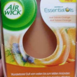 2X Fragranced Candle Anti Tobacco Orange Essential Oils 105g