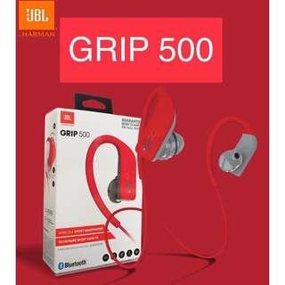 🎁🌲 NEW JBL GRIP 500 Wireless Sport Headphones - RED Bluetooth Sports Headset - by HARMAN