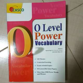 O LEVEL POWER VOCABULARY BOOK